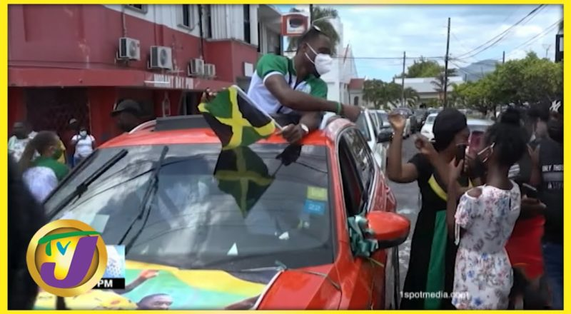 Hansle Parchment & More Athletes Return Home from Japan - August 10 2021 1