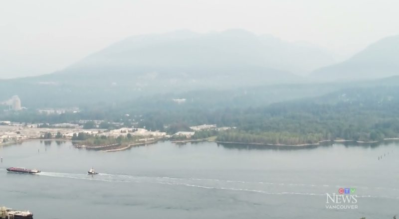 Wildfire smoke blankets Metro Vancouver | Drone footage shows hazy conditions 3