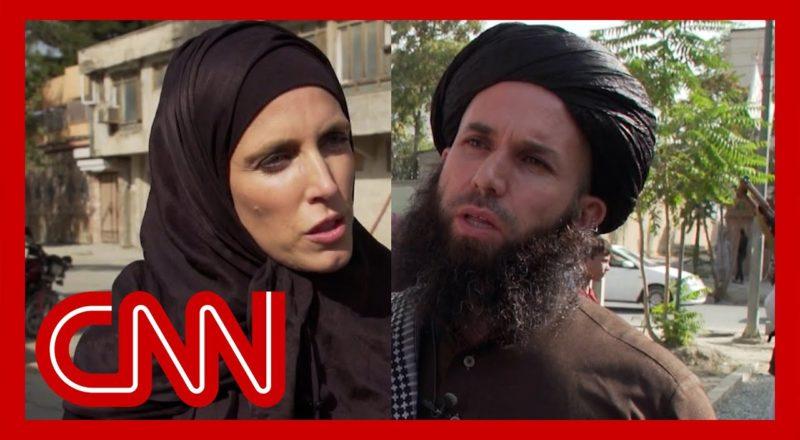 CNN reporter presses Taliban fighter on treatment of women 1