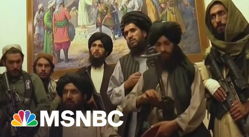 Video Shows Taliban Inside Afghanistan Presidential Palace 1