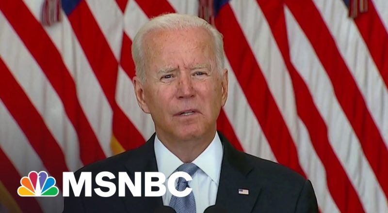 'I Stand Squarely Behind My Decision': Biden On Afghanistan Withdrawal 1