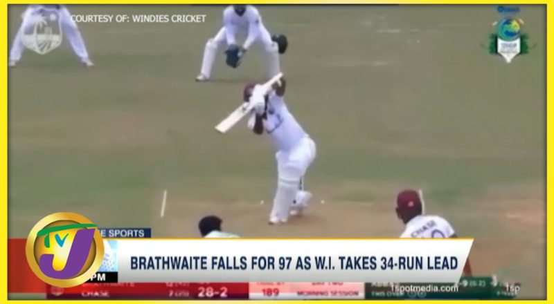Brathwaite Falls for 97 as Windies Takes 34-Runs Lead - August 13 2021 1