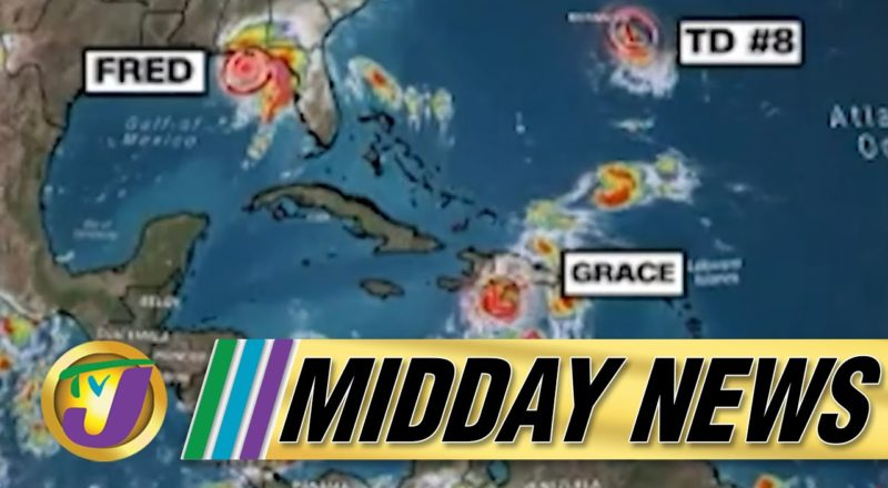 Tropical Storm Grace Watch for Jamaica | Significant Increase in Covid Cases - August 16 2021 1