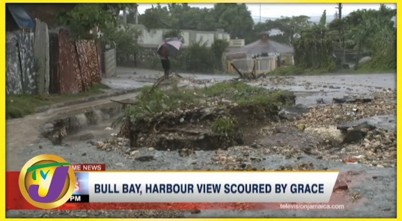 Bull Bay & Harbour View Pounded by Tropical Storm Grace | TVJ News - August 17 2021 1