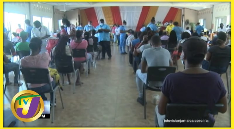 Day 2 of Jamaica's Islandwide Vaccine Blitz   TVJ News - August 1 2021 1