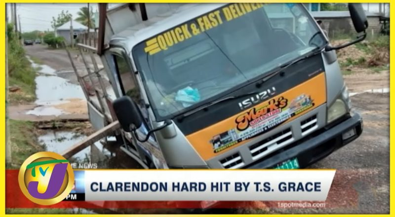 Tropical Storm Grace Aftermath in Clarendon Jamaica | TVJ News - August 18 2021 1