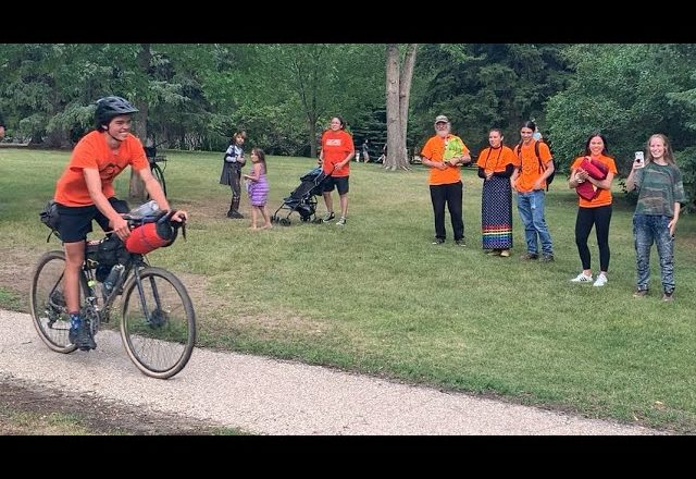 20-year-old cycles 3,000 km to every residential school in Saskatchewan 1