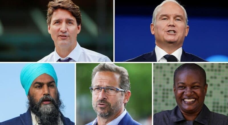 Canadians vote on Monday, Sept. 20th, for a new Federal Prime Minister.