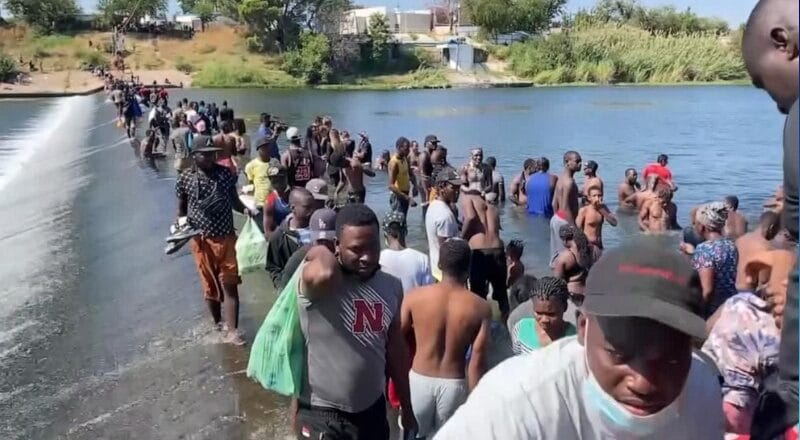 The US launches the mass expulsion of Haitian migrants from Texas.