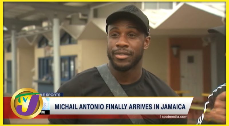 Michail Antonio Finally Arrives in Jamaica | TVJ News - September 1 2021 1