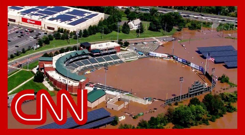 Stunning video shows baseball field partially under water 1