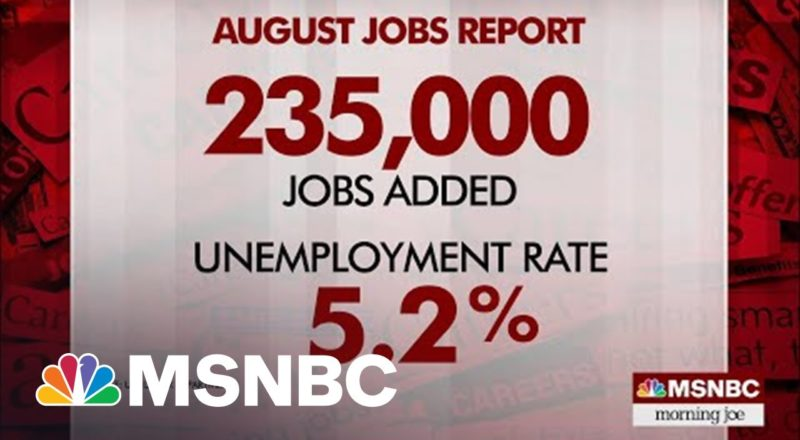 U.S. Economy Added 235,000 New Jobs In August 2