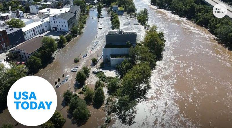 Drone footage shows devastating flooding in Philadelphia | USA TODAY 2