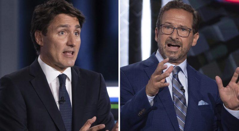 Tense exchange between Trudeau, Blanchet at French-language debate 4
