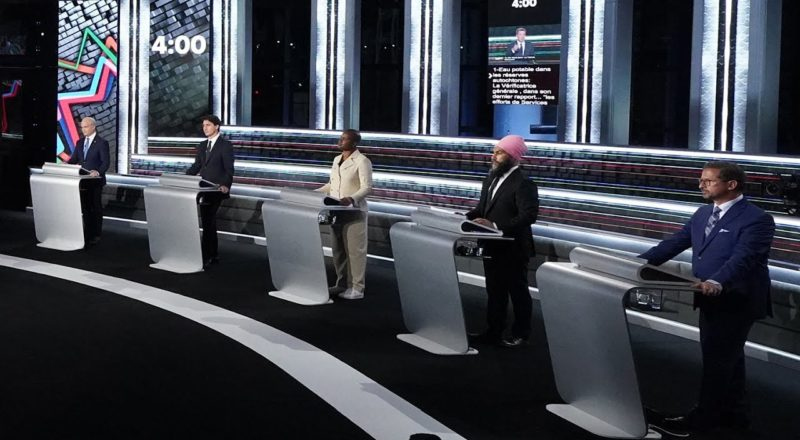 Leaders spar over climate, pandemic and election during French-language debate 3