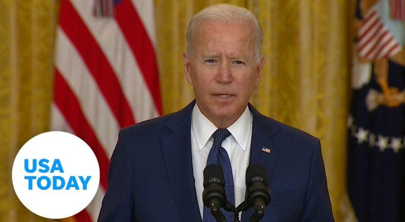 Joe Biden wants students to keep wearing masks and get vaccinated | USA TODAY 1