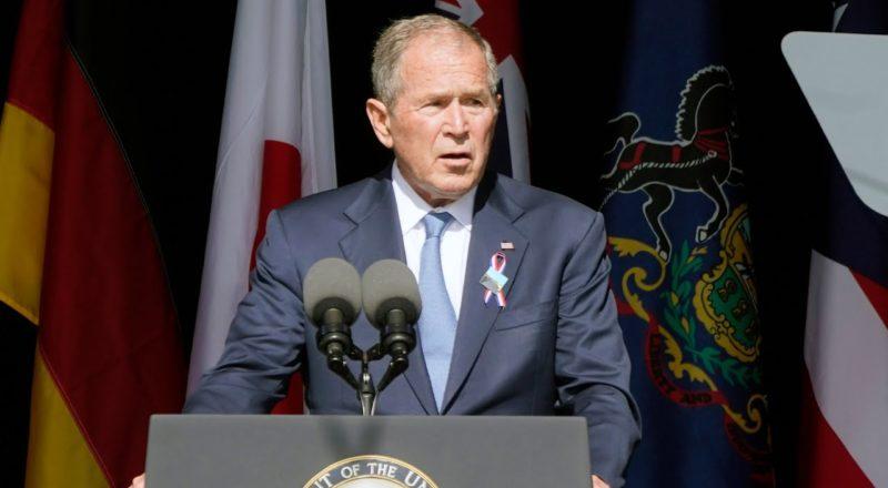 Former president George Bush speaks at 9/11 memorial 8