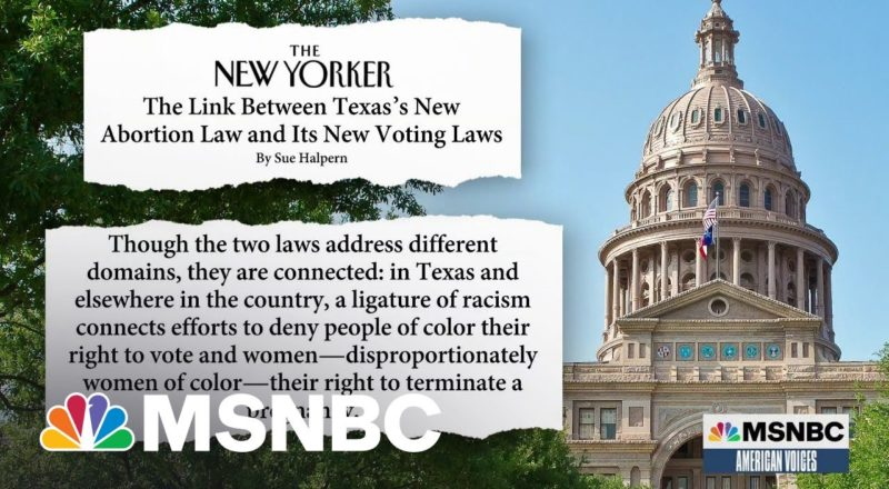 New Texas Abortion, Voting Rights Laws Have Something In Common 4