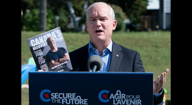 O'Toole slams 'partying' Trudeau on campaign stop 1