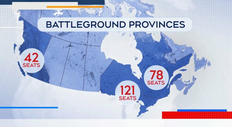A look at the key battlegrounds to watch across Canada 1