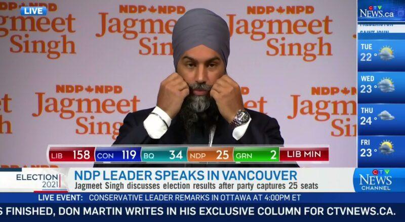 NDP Leader Jagmeet Singh speaks after Liberal win 9