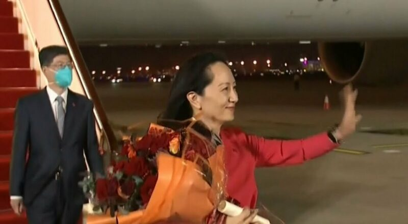 China rolls out the red carpet for arrival of Meng Wanzhou 1