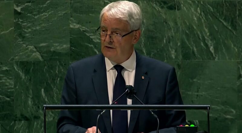 Canada's foreign affairs minister addresses UN General Assembly, takes aim at China | FULL ADDRESS 1