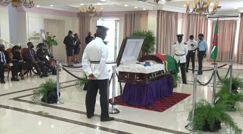 Lying in State of the late Former Prime Minister Patrick Roland John 7