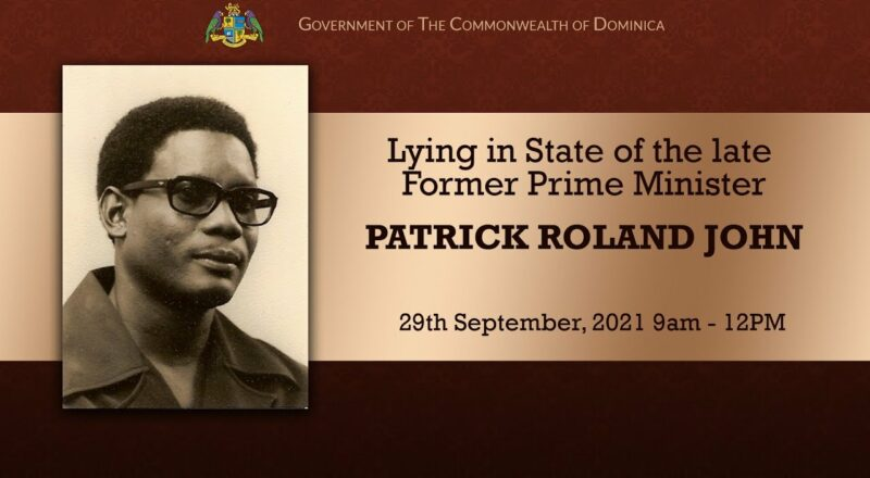 Lying in State of the late Former Prime Minister Patrick Roland John 6