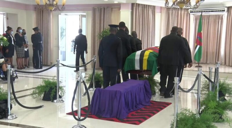 Lying in State of the late Former Prime Minister Patrick Roland John 5