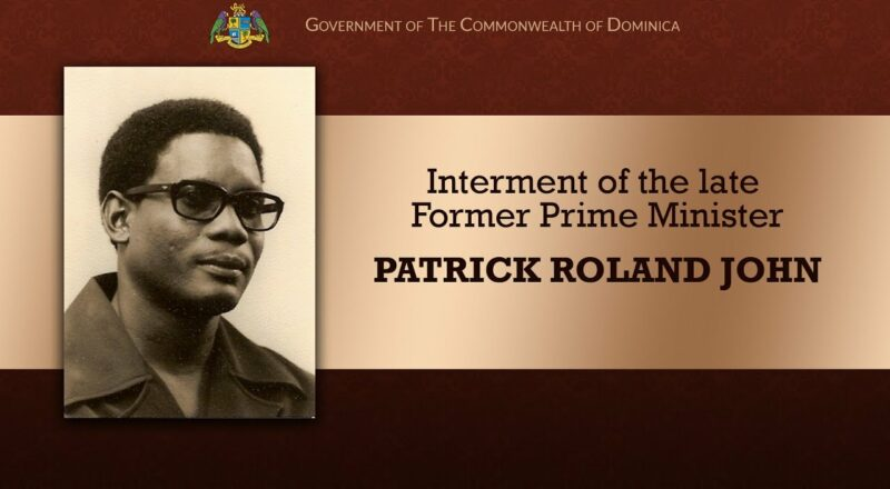 Interment of the late Former Prime Minister Patrick Roland John 1