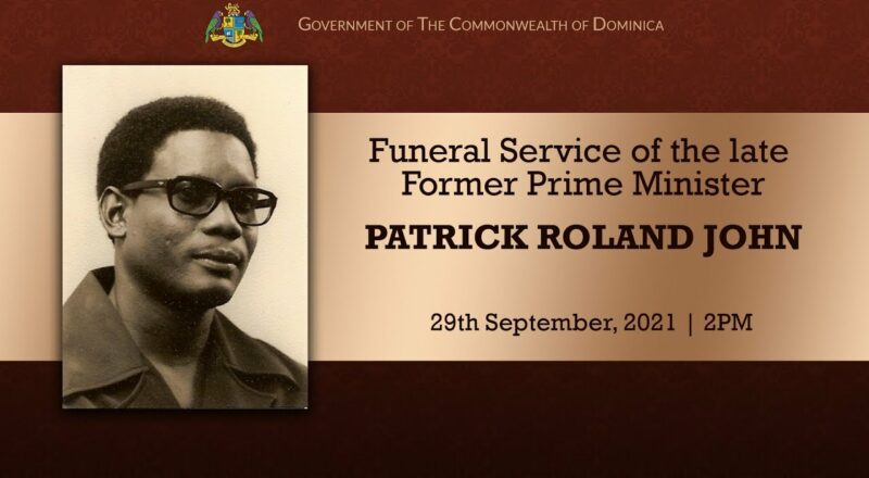 Funeral Service of the late Former Prime Minister Patrick Roland John 2