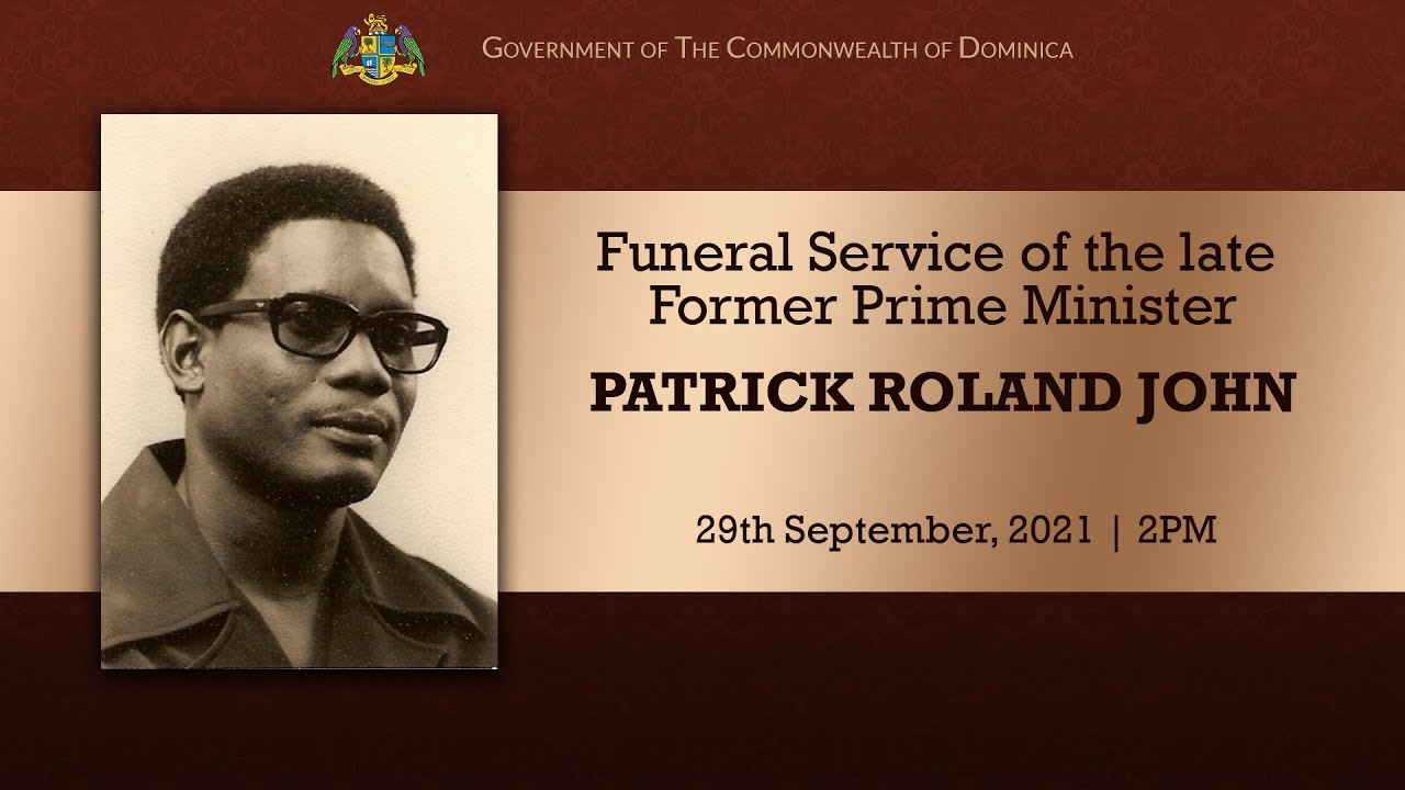 Funeral Service of the late Former Prime Minister Patrick Roland John 12