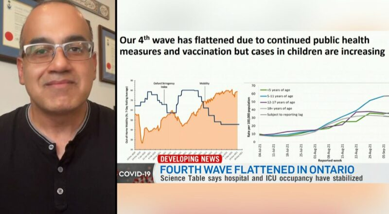 Ontario is successfully flattening fourth wave of COVID-19: modelling 1