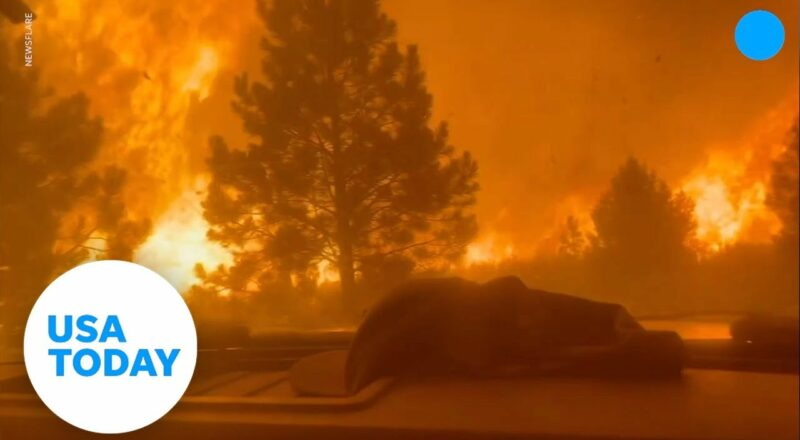 Firefighters race through dangerous wall of flames to escape death | USA TODAY 1