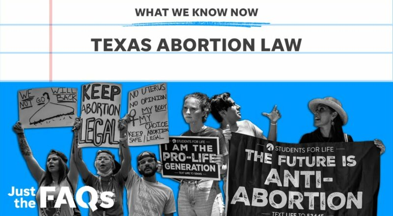 Texas abortion law: How it works and what it means for other states | Just the FAQs 1