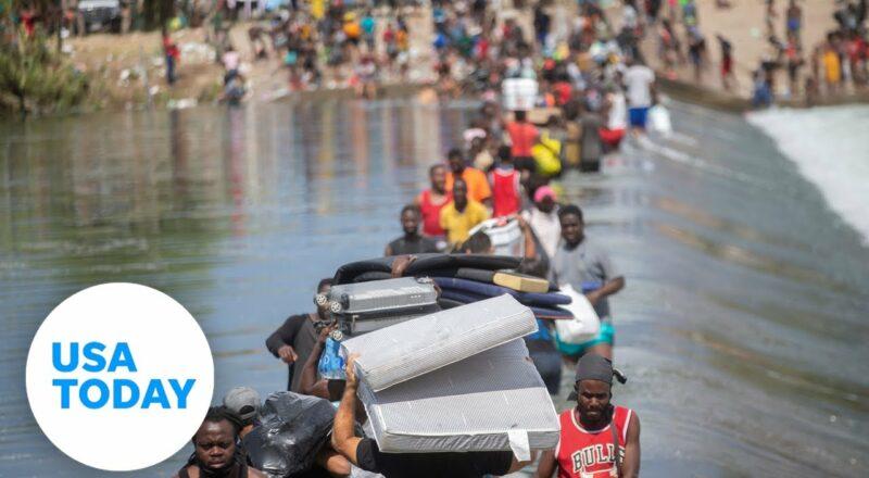 Haitian migrants hope to cross US border at Del Rio, Texas | USA TODAY 1