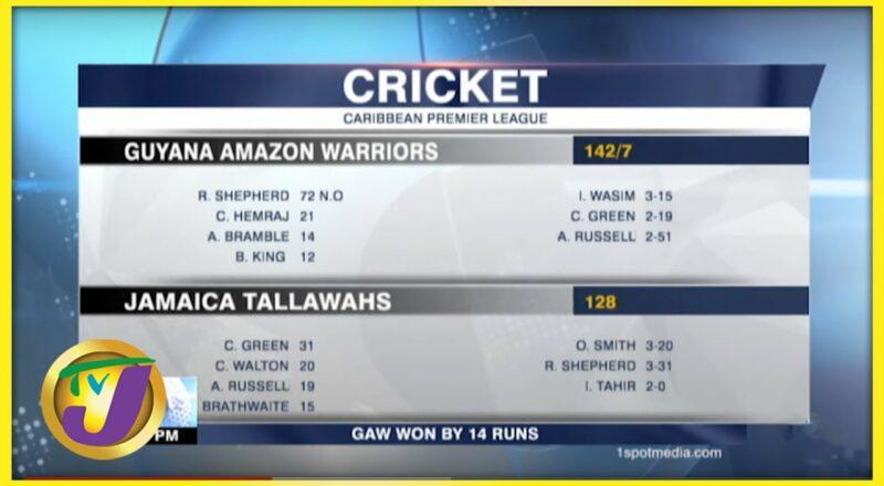 Guyana Amazon Warriors Beat Jamaica Tallawahs by 14 Runs - Sept 12 2021 1