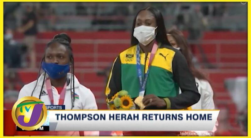 Elaine Thompson-Herah back home in Jamaica - Sept 16 2021 1