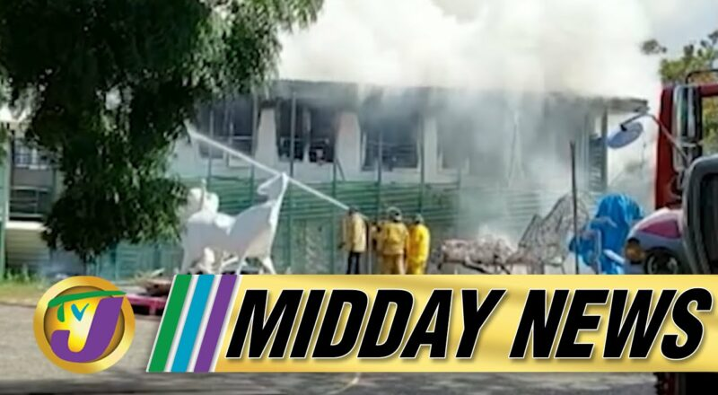 Fire at Edna Manley College   Cocaine Seized in Mobay Jamaica   TVJ Midday News 1