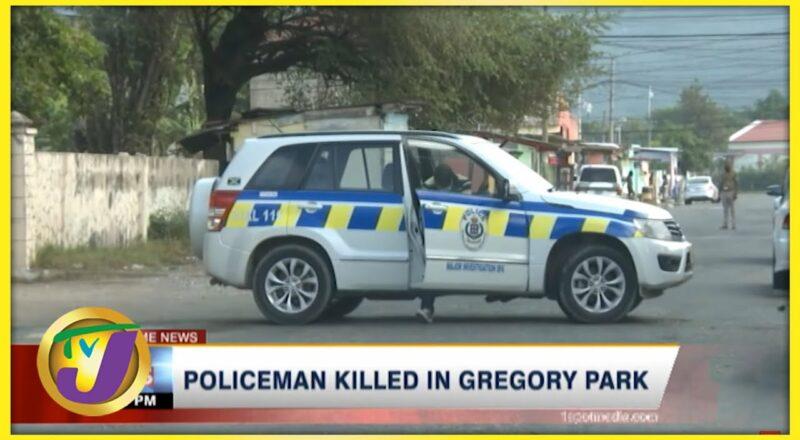 Policeman Killed in Gregory Park, St Catherine Jamaica   TVJ News 1