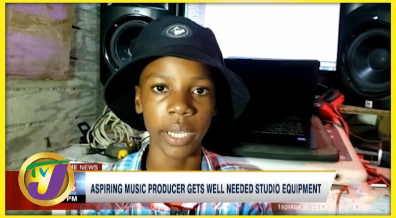 Aspiring Music Producer Gets well Needed Studio Equipment   TVJ News - Sept 20 2021 1