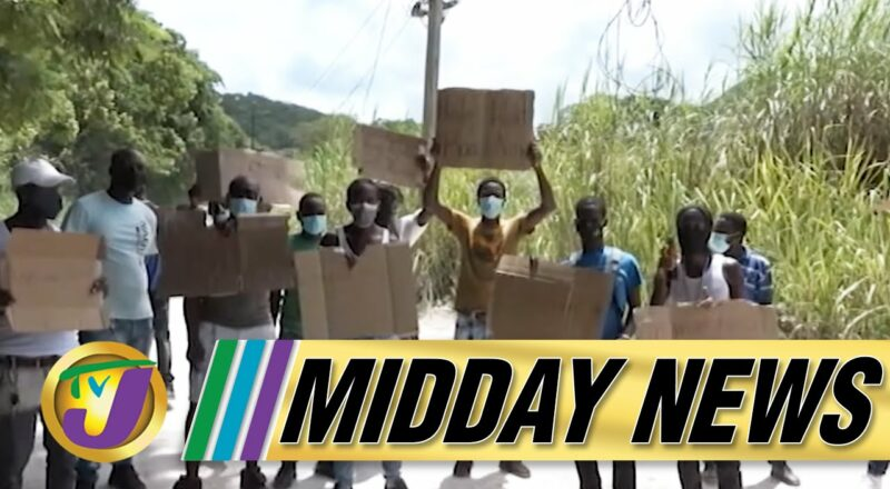 Glitch Today in Clansman Gang Trial   Poor Road Drive Taxi Strike in St. James   TVJ Midday News 1