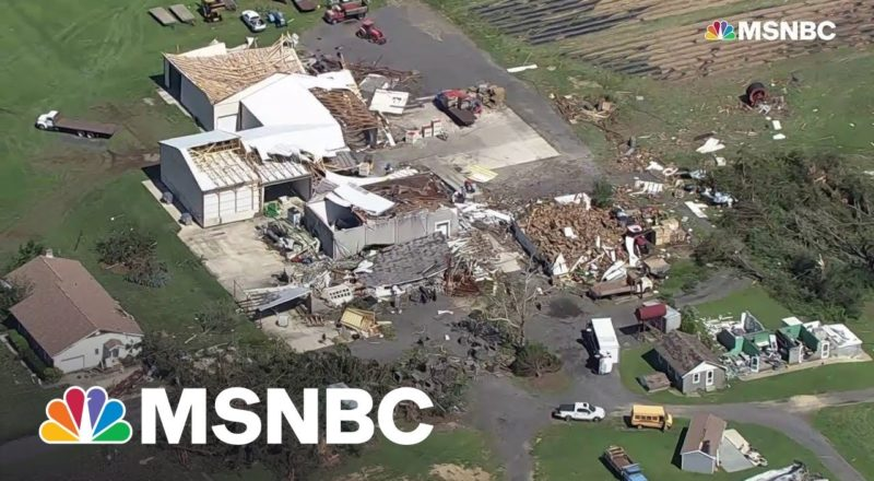 Aerial video shows destruction in Philadelphia area after tornado rips through 3