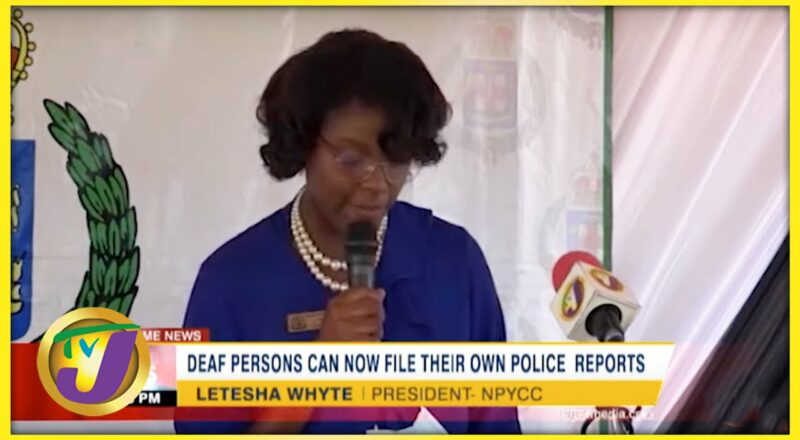 Deaf Persons can Now File Their own Police Reports | TVJ News - Sept 25 2021 1