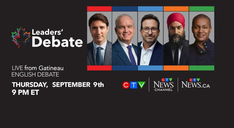Election 2021: Canada's federal leaders face off in English-language debate | Watch LIVE on Sept. 9 1