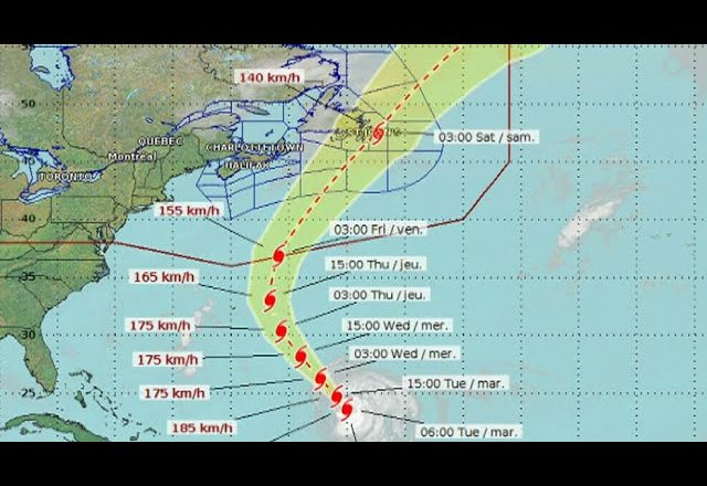 Some modelling warns Hurricane Larry could hit Newfoundland 5