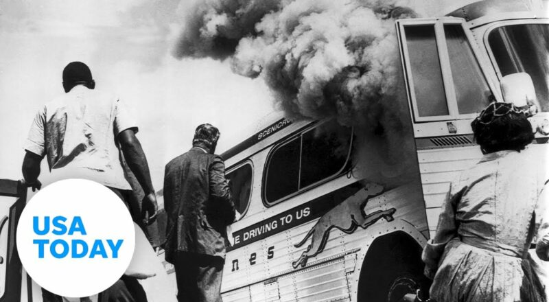 White supremacists burned down a Freedom Riders bus in 1961   USA TODAY 1
