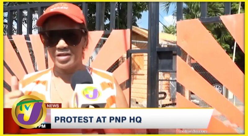 PNP Activist Leads Protest at PNP HQ   TVJ News - Sept 28 2021 1