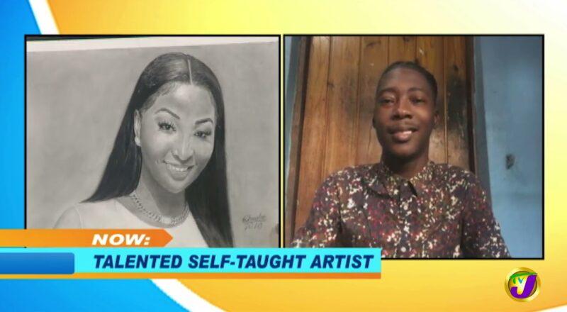 Kadeen Christie - Talented Self Taught Artist   Smile Jamaica, TVJ 1
